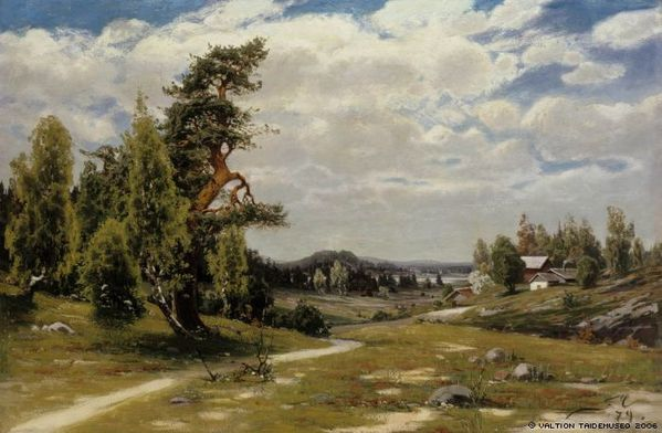 Fanny Churberg Finnish Landscape in summer 1897
