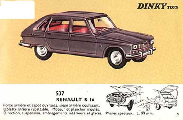 catalogue dinky toys 1966 p09 renault r16