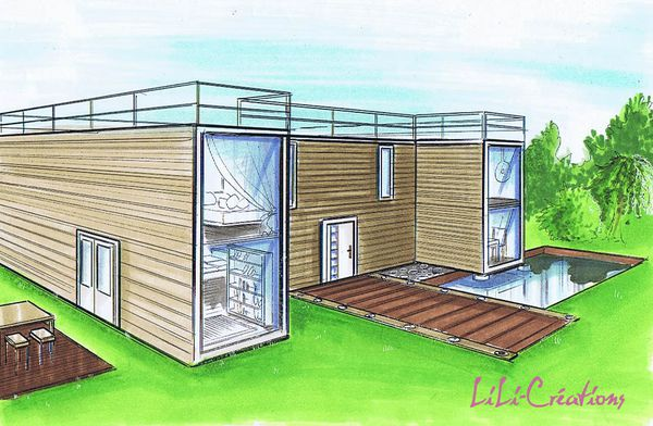 Le blog de elise fossoux d coration architecture d for Maison container france