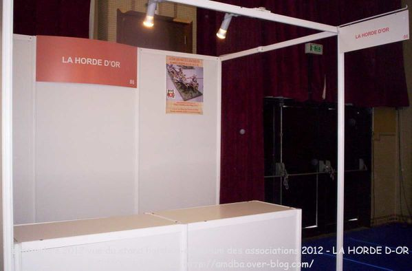 Photo 06 le 7 septembre 2012 vue du stand horde d-or forum