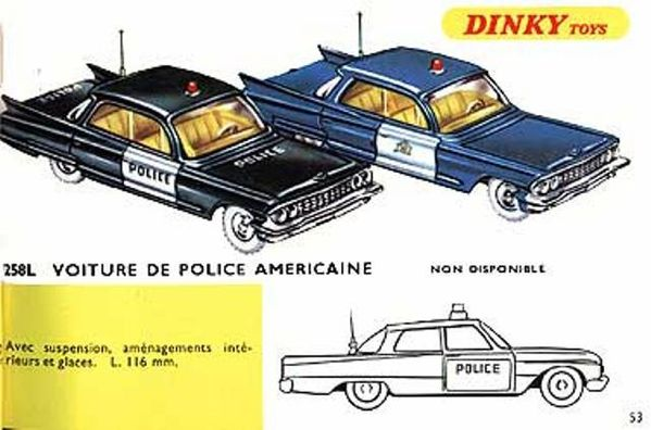 catalogue dinky toys 1967 p53 voiture police americaine