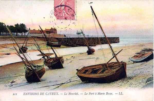 1906 le hourdel le port à marée basse 1