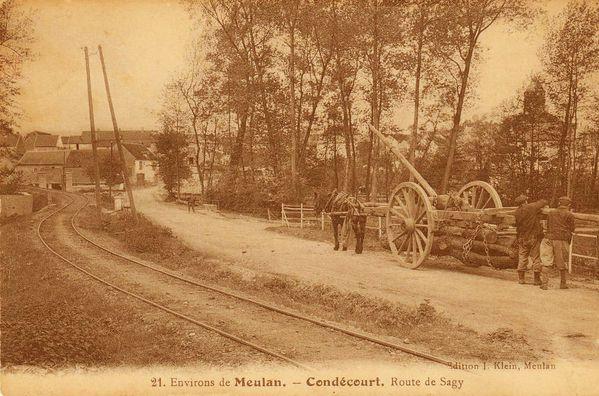 Saillancourt - 2 - 28 - Condécourt Route de Sagy