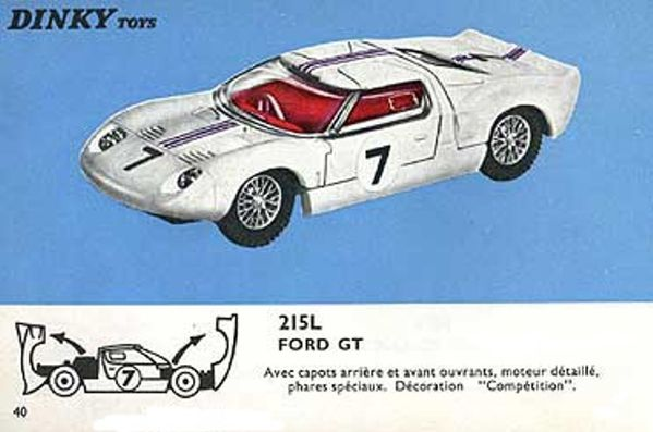 catalogue dinky toys 1966 p40 ford gt