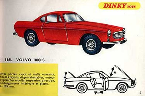 catalogue dinky toys 1967 p17 volvo 1800s