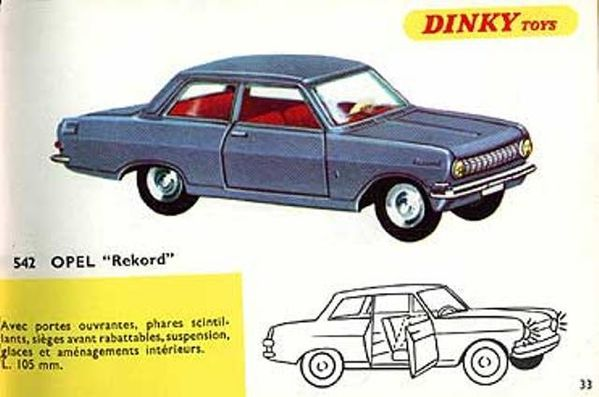 catalogue dinky toys 1967 p33 opel rekord