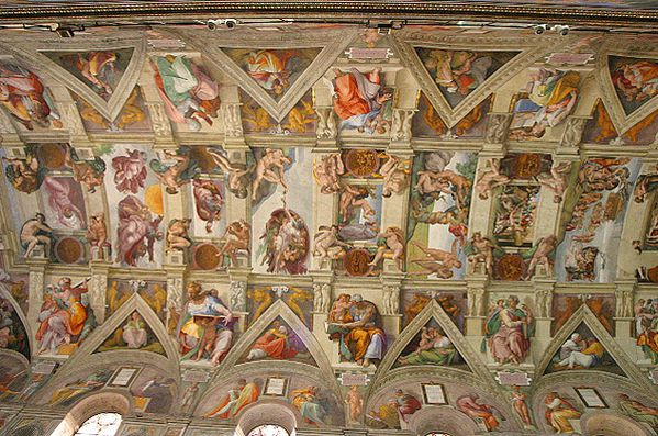 Lightmatter Sistine Chapel ceiling