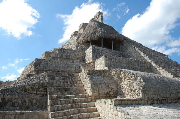 Maya Edzna edificio de los cinco pisos (6)