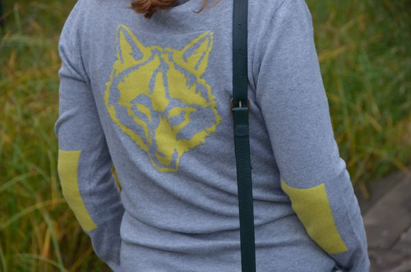 pull jaune fluo gris loup