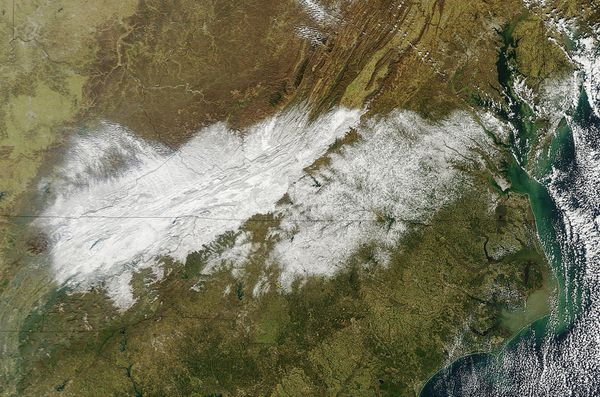 Aqua - MODIS - USA - Neige - 18-01-2013