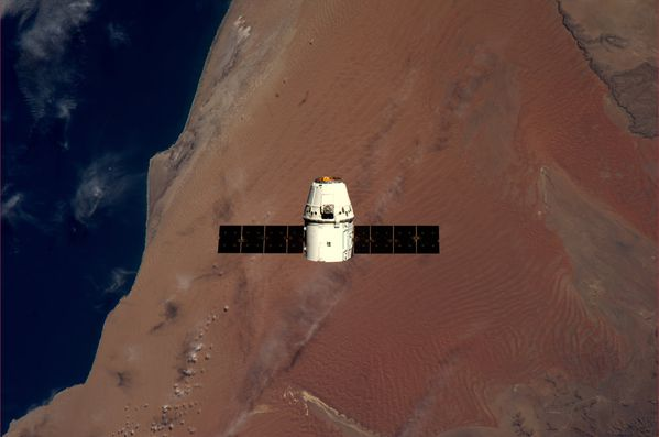 ISS - Dragon - Namibie - Kuipers - ESA-NASA