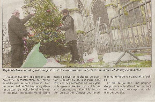 article du journal Courrier Picard du 18 décembre 2010