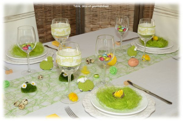 table de p ques au pays des lapins jardiniers table d co et gourmandises. Black Bedroom Furniture Sets. Home Design Ideas
