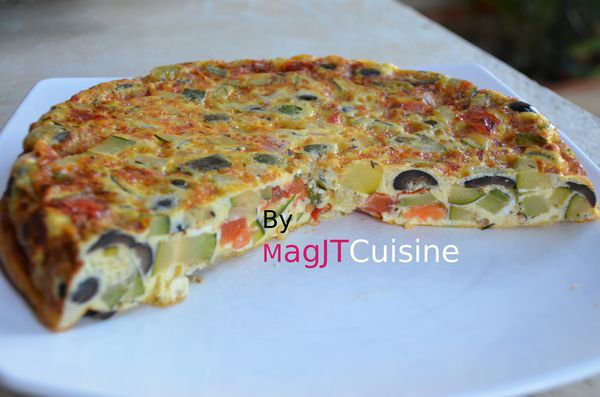 omelette de courgettes, olive 2
