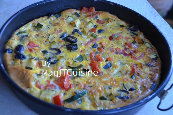 omelette de courgettes, olive 3