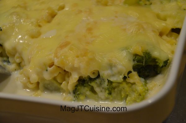 gratin brocoli pate, fromage raclette 1
