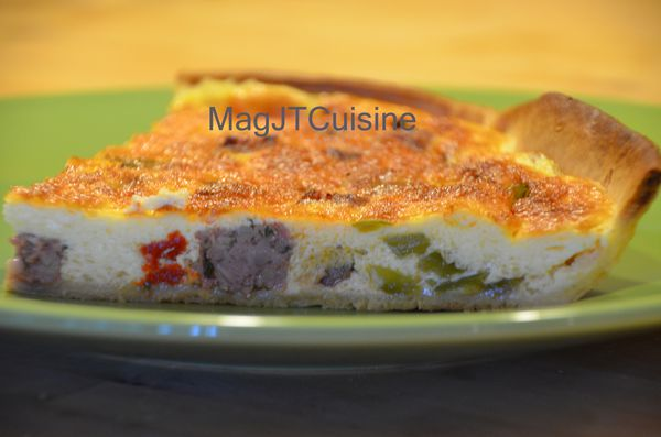 quiche chipolatas poivron 1