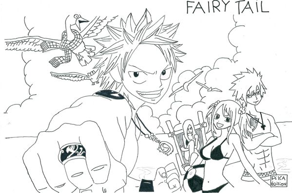Blog de dessins voici un blog qui concerne mes dessins - Dessin anime de fairy tail ...