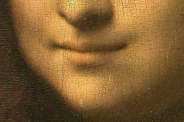 Mona Lisa detail mouth