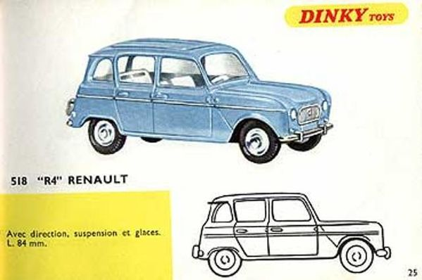catalogue dinky toys 1967 p25 r4 renault