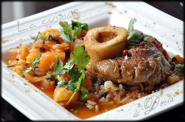 Préférence Jarret de veau à l'indienne - La cuisine de Doria HU59