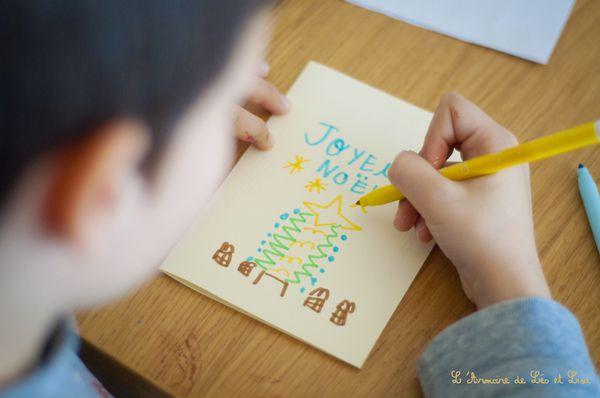 atelier carte de voeux enfant