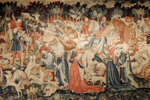 Devonshire tapisserie chasse à l'ours détail 5
