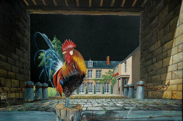 Coq Gaulois peinture Michel MICHAUX