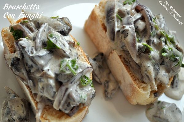 bruschetta aux champignons portebello