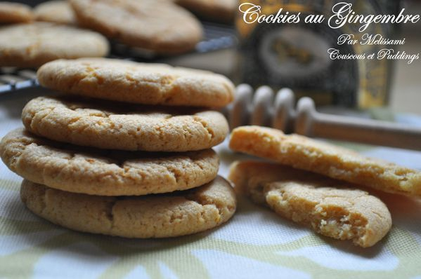 cookies ou biscuits au gingembre