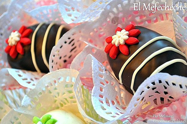 El mefecheche g teau algerien aux biscuit cr me au - Decoration gateau traditionnel algerien ...