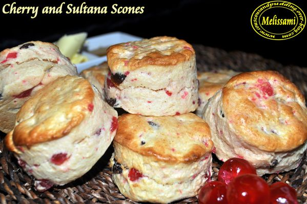 cherry and sultana scones