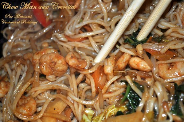 chow mein ou nouilles chinoise