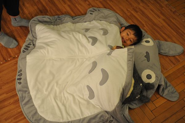 Hello Japan - Lucky Kid in Totoro Bed