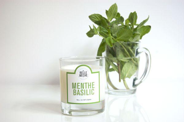 La Belle Mèche bougie parfumée menthe basilic