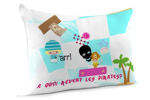 coussin pirate fille
