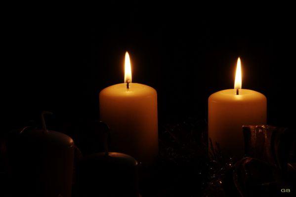 deux bougies de l'avent