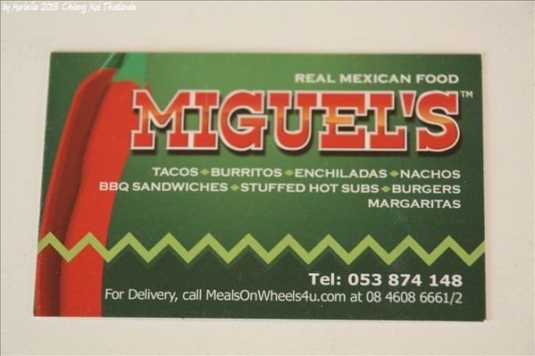 Chiang Mai : Miguel's : restaurant mexicain