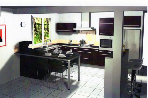choix et commande de la cuisine quip e autoconstruction de ma maison. Black Bedroom Furniture Sets. Home Design Ideas