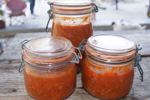 Conserves de sauce bolognaise les cr a 39 et gourmandises for Aubergines en conserve maison