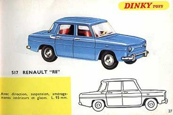 catalogue dinky toys 1967 p27 renault r8