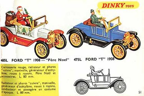 catalogue dinky toys 1967 p51 ford t 1908 pere noel