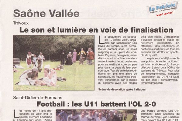 Article Le Patriote 7 juin 2012