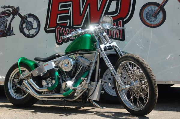 2011 bikes Candy Green Bobber 004 www.ewdcycles.com