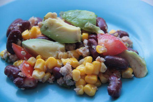 Salade mexicaine au thon les petits plats de patchouka - Cuisiner haricot rouge ...