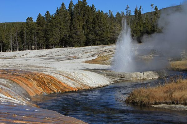 Black Sand geyser basin in fall - YNP