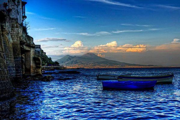 Vésuve depuis la baie - Enza Vena