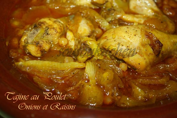 Tajine poulet oignons et raisins de Hamid pic (2)