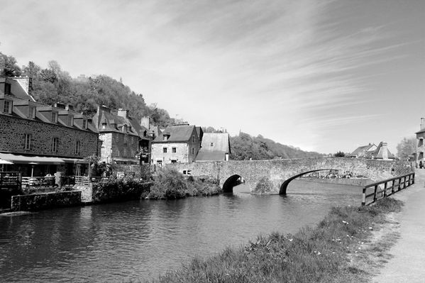 Dinan en noir et blanc