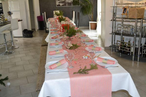 Table des 80 ans guinguette la table d 39 aurore - Decoration table anniversaire 20 ans ...
